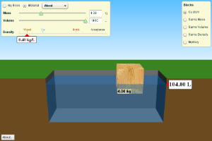 PhET Simulation: Density