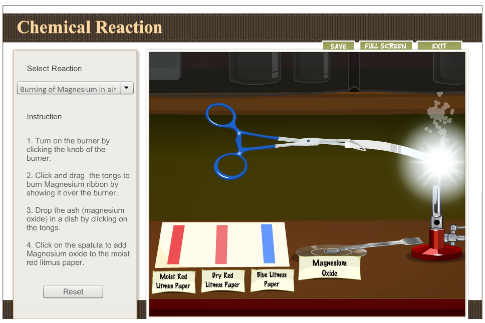 Amrita Simulation: Chemical Reactions