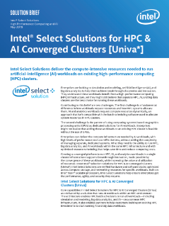 Intel® Select Solutions for HPC & AI Converged Clusters [Univa*]