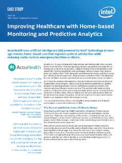 Improving Healthcare with Home-based Monitoring and Predictive Analytics