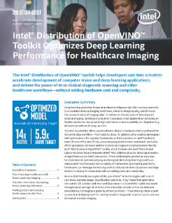 Intel® Distribution of OpenVINO™ Toolkit Optimizes Deep Learning Performance for Healthcare Imaging