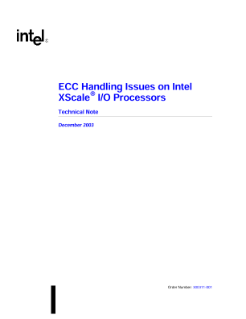 Technical Note: ECC Handling Issues on Intel XScale® I/O Processors