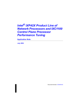 Application Note: IXP42X Product Line Performance Tuning