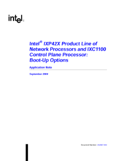 Application Note: IXP42X Product Line Boot-up Options