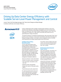 Lenovo SmartGrid Scales Power Management; Datacenter Manager