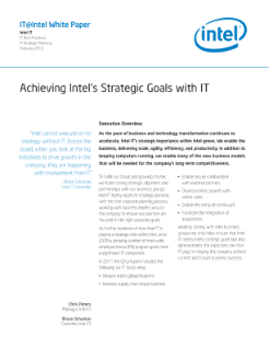 Brian Krzanich: Our Strategy and The Future of Intel
