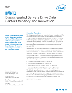 Disaggregated Servers Drive Data Center Efficiency and