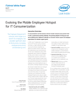 Evolving the Mobile Employee Hotspot for IT Consumerization