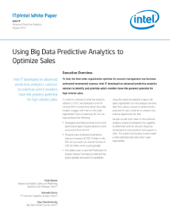 Utilizing Predictive Sales Analytics with Big Data: Paper