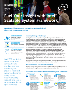 Fuel Your Insight with Intel® Scalable System Framework