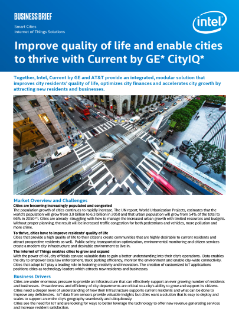 Current by GE CityIQ* Enables Cities to Thrive and Improve Quality of Life