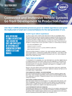 In-Vehicle Experiences with Intel Atom® Automotive Processors
