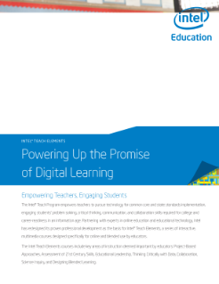 Intel Teach Elements Brochure (US)