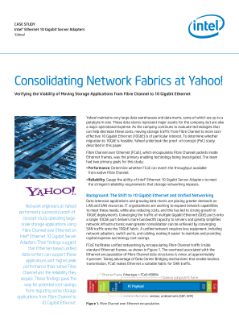 Consolidating Network Fabrics at Yahoo!