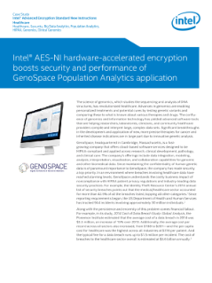GenoSpace Boosts Population Analytics* Application Performance