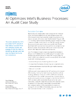 AI Optimizes Intel's Business Processes