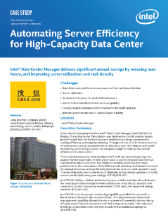 Cloud Data Center  Sohu Internet Company  Automating Server Efficiency  for High-Capacity Data Center  Case Study