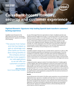 Digitized Biometric Signature Solution: A CaixaBank Case Study