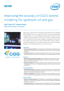 CGG Improves Seismic Modeling with High-Performance Computing