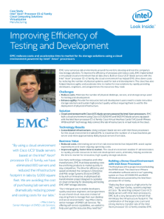 EMC Improves Efficiency with Development and Testing in the Cloud