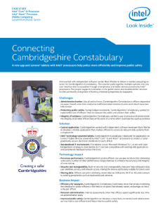 Cambridgeshire Constabulary: Connected and Efficient