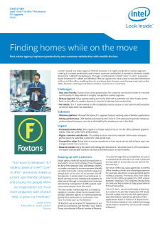 Foxtons: Finding Homes while on the Move