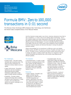 BMV: Zero to 100,000 Transactions in 0:01 Second