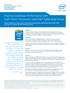 Improved In-memory and On-disk Database Performance