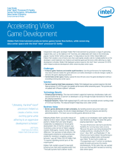 Accelerating Video Game Development on Intel® Xeon® Processors