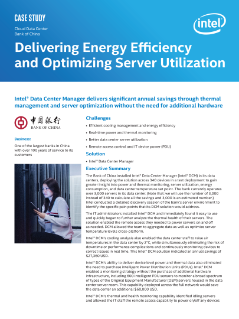 Delivering Energy Efficiency and Optimizing Server Utilization