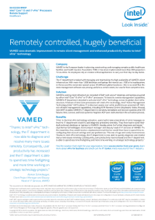 VAMED: Remotely Controlled, Hugely Beneficial