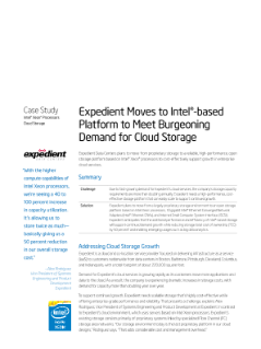 Expedient to Meet Cloud Storage Demand on Intel®-Based Platform
