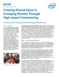 Shared Value in Emerging Markets: Intel Employee Service Corps