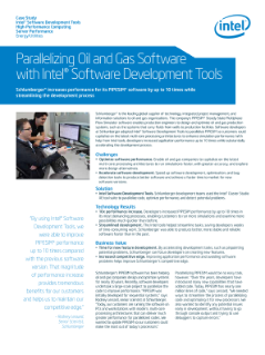 Parallelizing Oil and Gas PIPESIM* Software with Intel