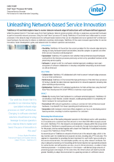 Telefónica I+D: Unleashing Network-based Service Innovation