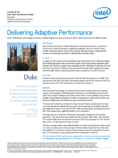 Intel ESS Duke University Success Brief