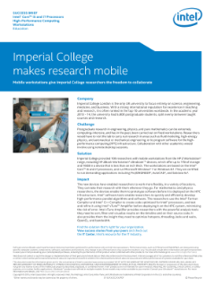 Imperial College: Making Research Mobile