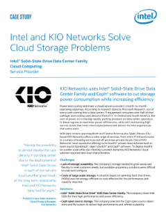Intel and KIO Networks Solve Cloud Storage Problems