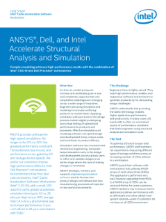 Intel® Cache Acceleration Software Workstation - Ansys Case Study