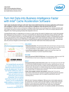 Increase Business Intelligence Performance with Intel® CAS
