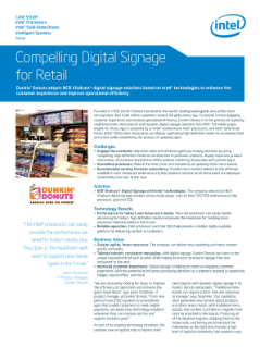 Delivering Compelling Digital Signage for Dunkin' Donuts