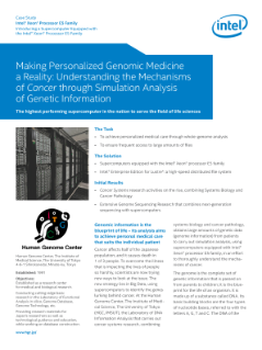 Making Personalized Genomic Medicine a Reality