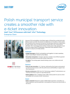 Polish Transport Creates a Smoother Ride with E-ticket Innovation