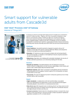 Smart Support for Vulnerable Adults from Cascade3d