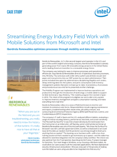Iberdrola Renewables and Intel | Get More Energy Industry Data