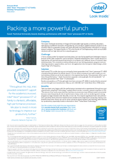 Czech Technical University: Packing a More Powerful Punch