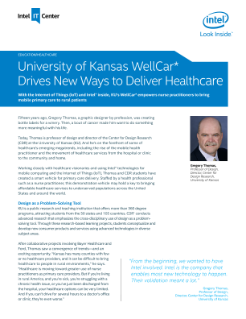 Univ. of Kansas WellCar* is Driving Primary Care Delivery