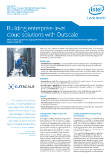Intel® Technology Powers High-Performance Cloud Solutions for Outscale