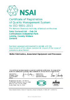Intel Ireland Ltd. Fab 24 ISO 9001:2015