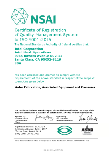 Intel Mask Operations ISO 9001:2015